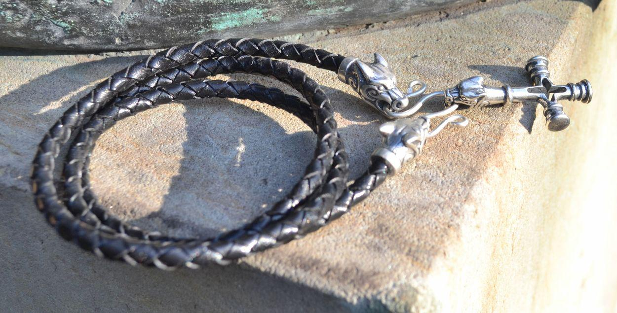 Norse Wolf Cross Silver Necklace  TheVikingStorecouk